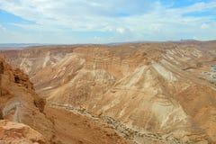 Masada. View from Masada fortress, Israel Royalty Free Stock Photography