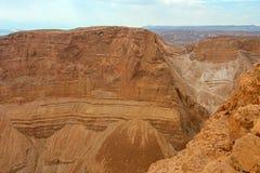 Masada. View from Masada fortress, Israel Stock Photo