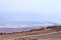 Masada y el mar muerto - Israel Foto de archivo libre de regalías