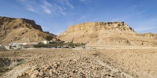 Masadavesting dichtbij het Dode Overzees in Israël stock fotografie