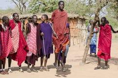 masai αλμάτων Στοκ Φωτογραφίες