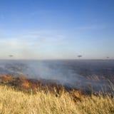 masai της Κένυας mara πυρκαγιάς Στοκ εικόνα με δικαίωμα ελεύθερης χρήσης