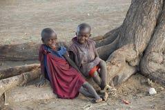 masai детей Стоковое Фото