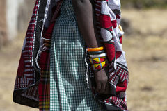 Masai with Braclets Royalty Free Stock Image