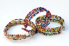 Masai bracelet colors Royalty Free Stock Photos