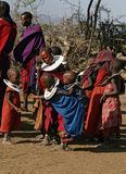 Masai Children playing Stock Images