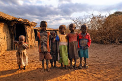 Masai children Royalty Free Stock Photos