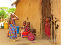 Masai children at home Royalty Free Stock Photos