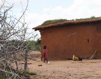 Masai children, Kenya. Masai village in Kenya. Local children Royalty Free Stock Photography