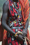Masai with Clothes and Braclets Royalty Free Stock Images