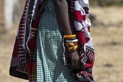 Masai con los brazaletes imagen de archivo libre de regalías