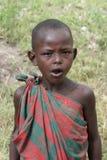 Masai d'enfants de verticale de l'Afrique, Mara de masai Photos libres de droits