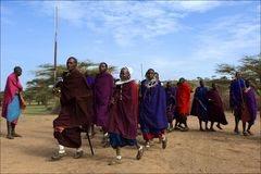 Masai dance. Stock Images