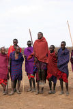 Masai dancers Stock Photo