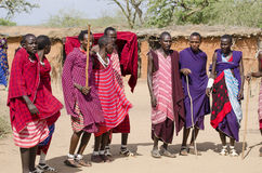 Masai dancing Stock Image