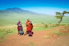 Masai-Dorf stockfotografie