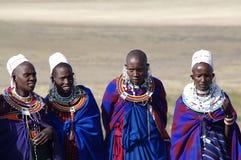Masai-Dorf tanzania Lizenzfreies Stockfoto