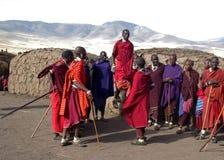 Masai-Dorf tanzania Stockbilder