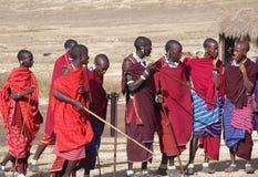 Masai-Dorf tanzania Lizenzfreie Stockfotografie