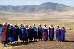 Masai-Dorf tanzania Stockfotos