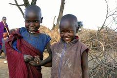 Masai dzieci Obraz Royalty Free