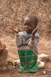 Masai dziecko przy szkołą Fotografia Stock