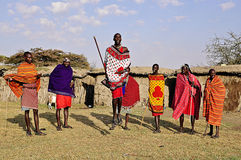 Masai em Kenya, África Foto de Stock Royalty Free