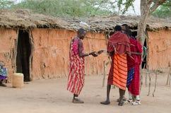 Masai em kenya Imagens de Stock Royalty Free