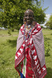 Masai female in robe in village near Tsavo National Park, Kenya, Africa Stock Images