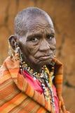 Masai-Frau Lizenzfreie Stockfotos