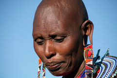 Masai-Frau (Kenia) Lizenzfreies Stockfoto