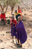 Masai gathering Royalty Free Stock Photography