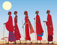 Masai group Royalty Free Stock Image