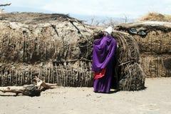 A masai hut Stock Image