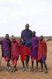 Masai jumping Royalty Free Stock Photos