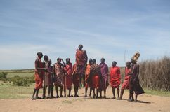 Masai Jumping Dance Tom Wurl stock images