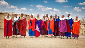 Masai kobiety z tradycyjnymi ornamentami, Tanzania fotografia stock