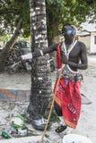Masai man in KIwenga village Royalty Free Stock Image