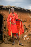 MASAI MARA, КЕНИЯ - 23-ье сентября: Молодой человек Masai на сентября, стоковое фото
