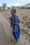 Masai mara мальчика Стоковые Фотографии RF