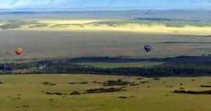 Masai Mara полета воздушного шара Стоковые Изображения RF