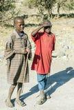Masai mara boys Royalty Free Stock Photos