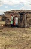 Masai Mara en pueblo imagen de archivo libre de regalías