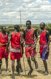 Masai Mara jumping Royalty Free Stock Photos