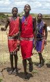Masai Mara jumping Royalty Free Stock Photo