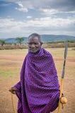 MASAI MARA KENJA, Wrzesień, -, 23: Stary Masai mężczyzna na Wrześniu, 2 Obraz Stock