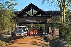MASAI MARA, KENYA - January 1: The entrance of the natural park Royalty Free Stock Image