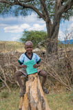 MASAI MARA, KENYA - September, 23: Masai boy on September, 23, 2 Royalty Free Stock Photos