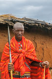 MASAI MARA, KENYA - September, 23: Young Masai man on September, Royalty Free Stock Photo