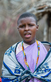 MASAI MARA, KENYA - September, 23: Young Masai woman on Septembe Royalty Free Stock Photo
